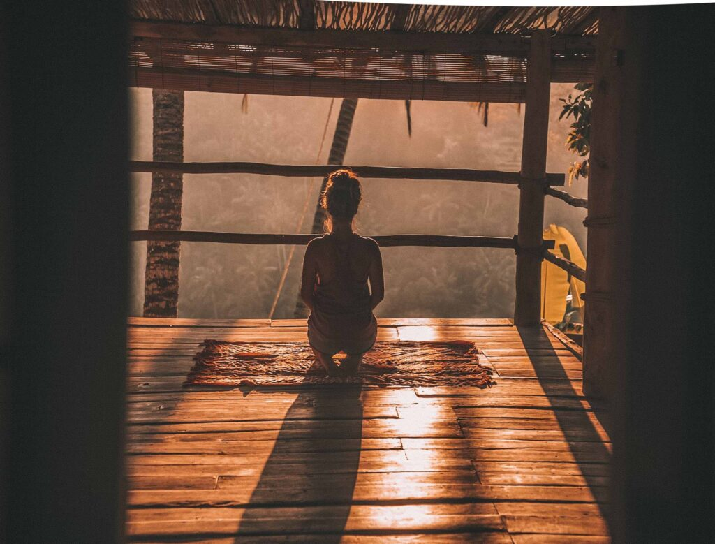 yoga during rural retreat